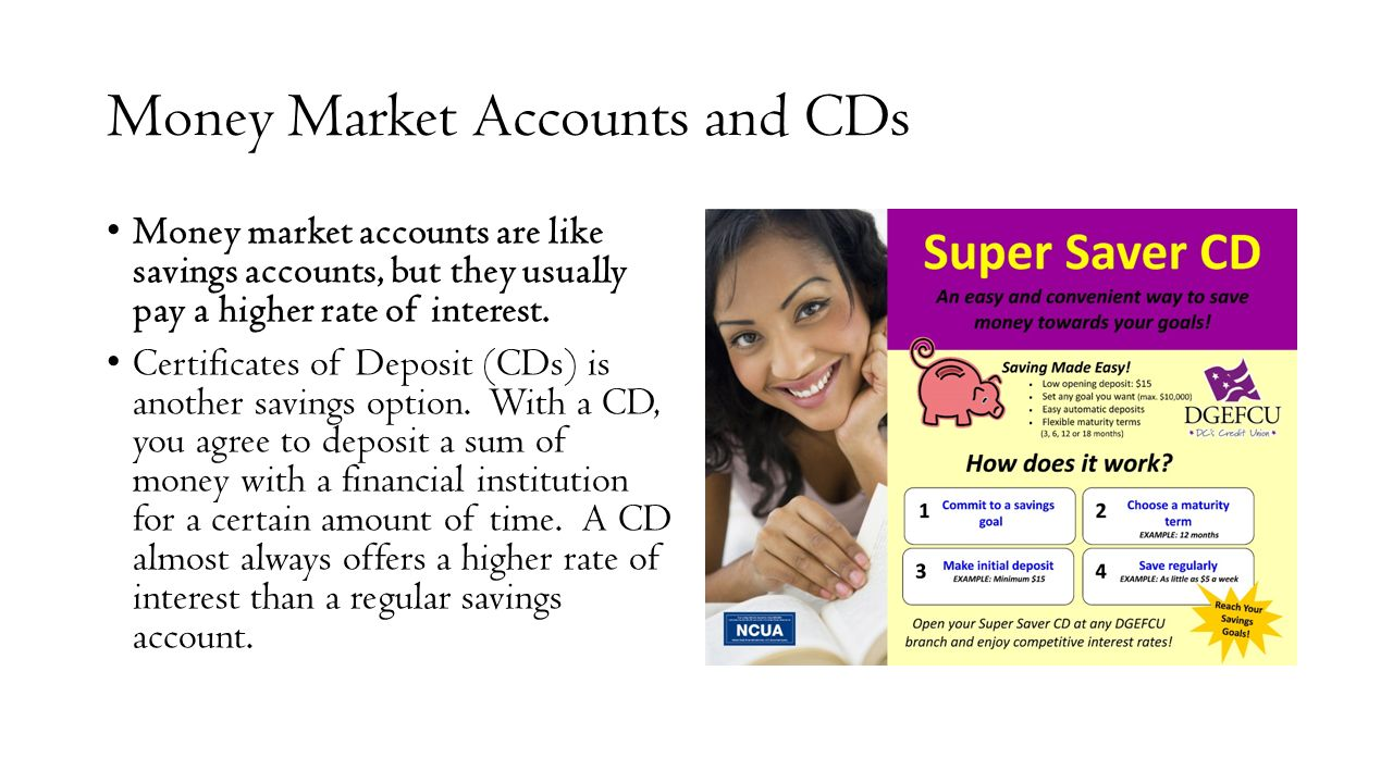 Economics mr websters class ppt download money market accounts and cds xflitez Image collections