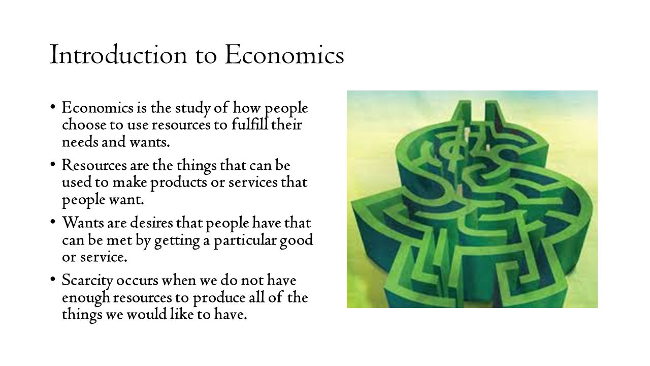 economics introduction Please get in touch with the economics department's advisor for first-year students the usual starting point is economics 201 introduction to macroeconomics.