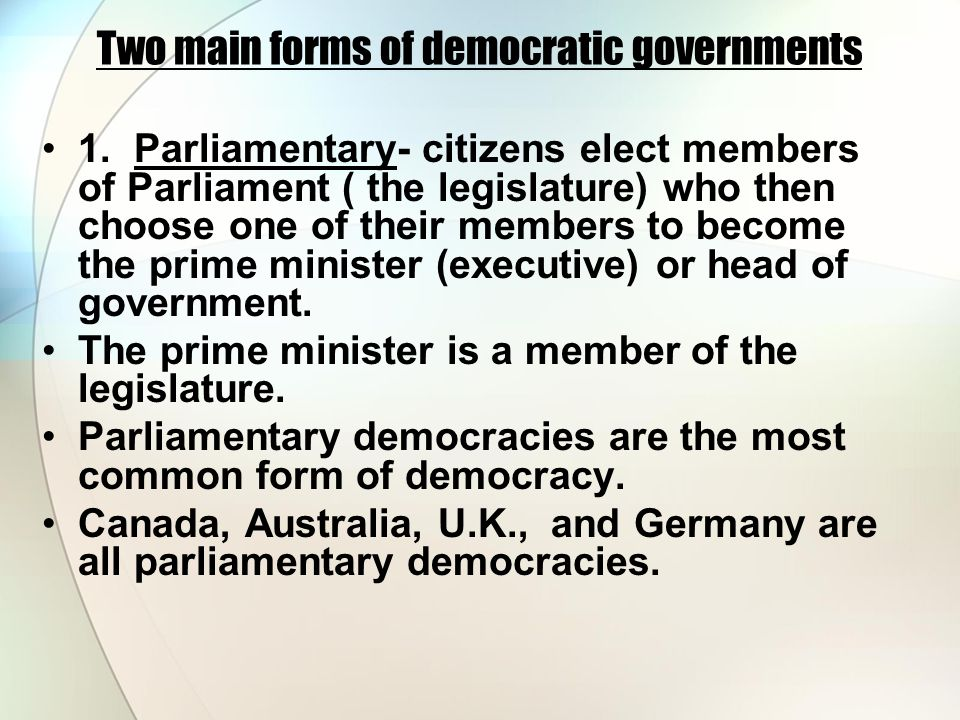 The types of governments - ppt video online download