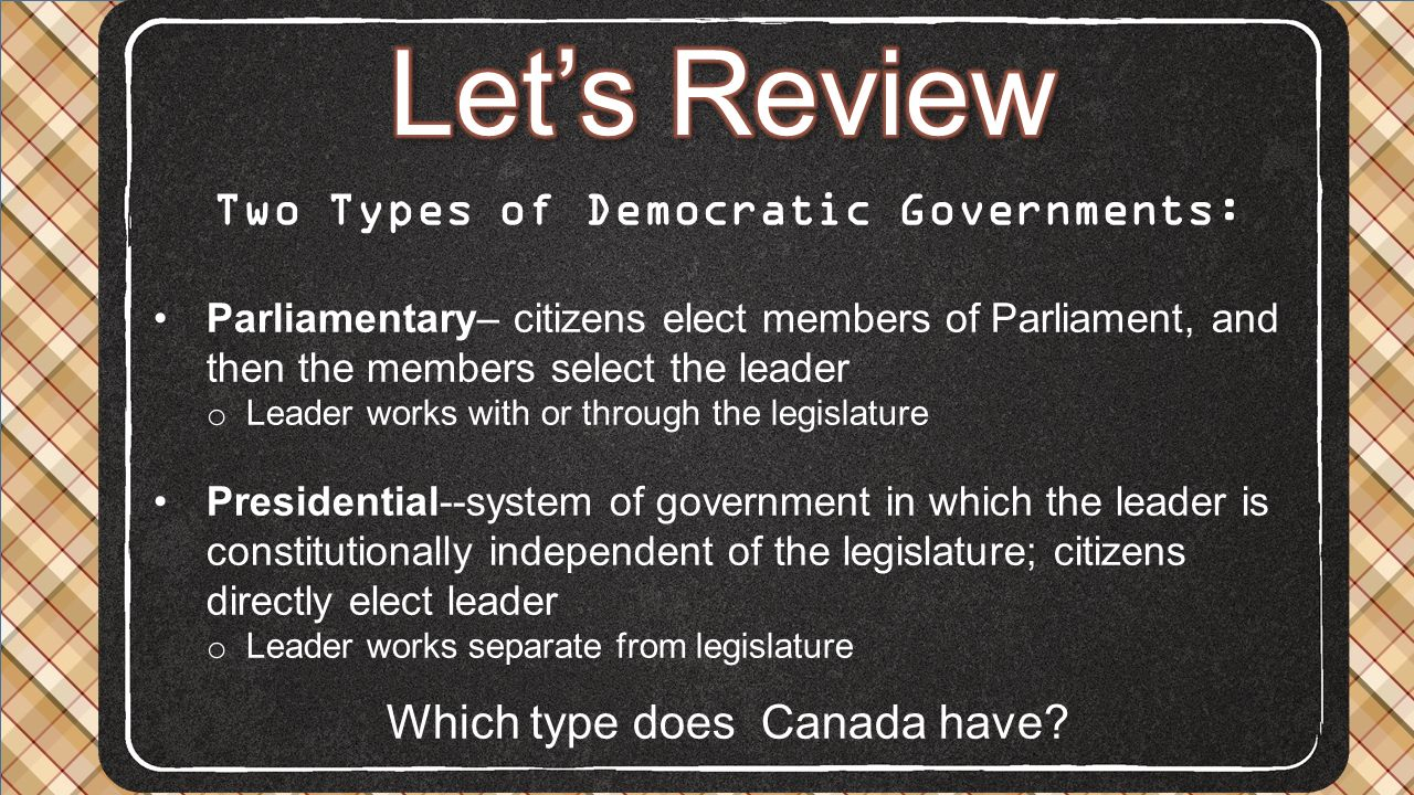 Two Types of Democratic Governments: