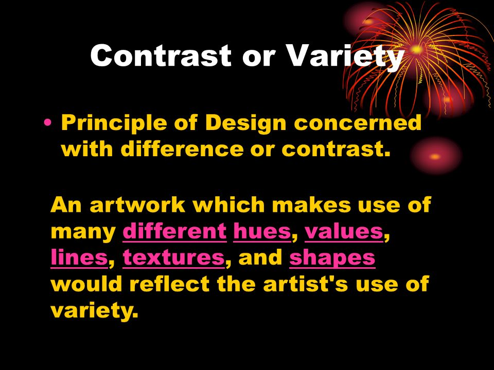 Variety In Principles Of Design : The principles of design ppt video online download