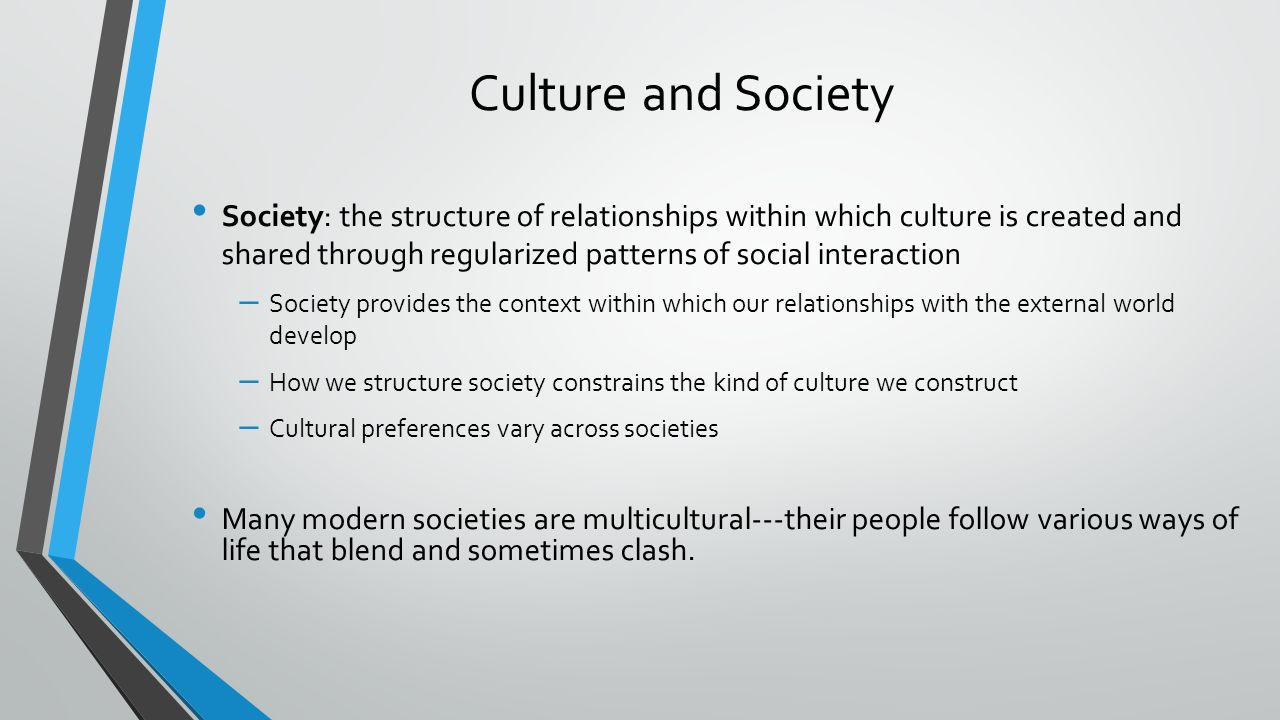 culture value and society This description of american cultural values was first introduced in american ways: an introduction to american cultureit explains the value system that has allowed the united states to assimilate millions of people from diverse cultures all over the world and create a unique, enduring american identity.