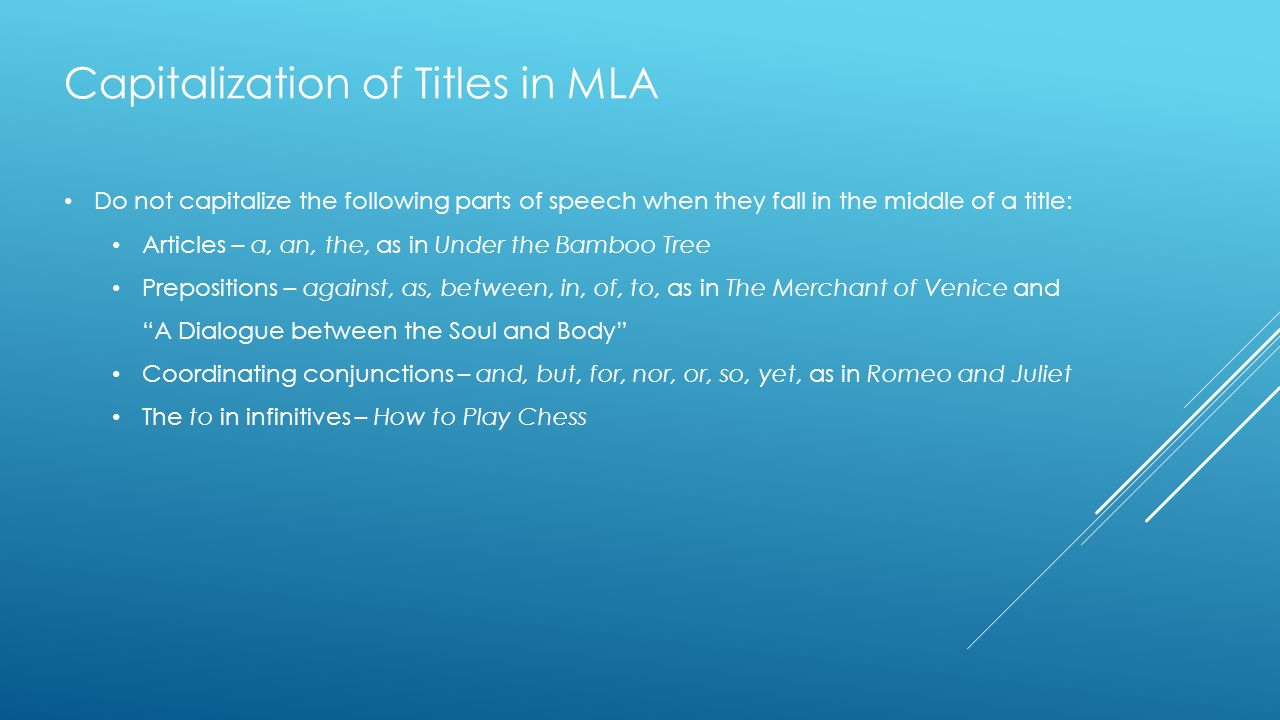 Play titles in essays mla