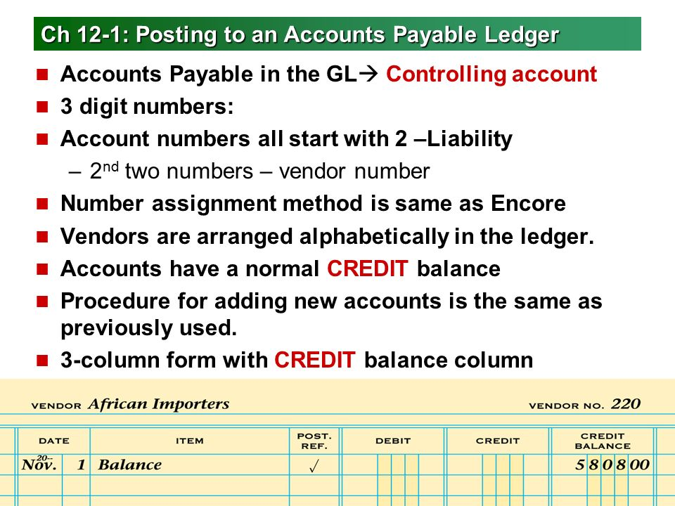payable ledger