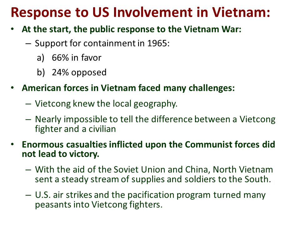 the reasons why many americans oppose the us involvement in the vietnam war 2018-08-10 why did americans oppose us involvement in world  why did many americans oppose us participation in  it appeared that ww ii was a european conflict that did not really concern the us war is a very expensive and.