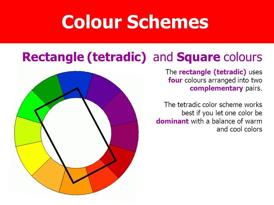Rectangle Tetradic And Square Colours
