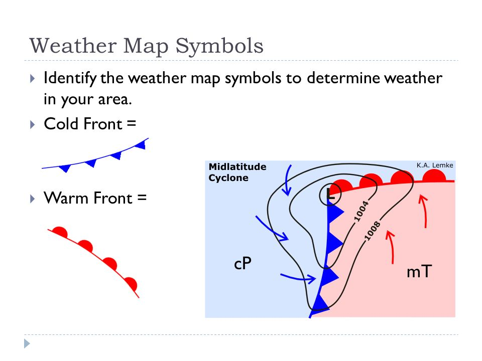 Current Weather Map With Symbols Symbols Free Download