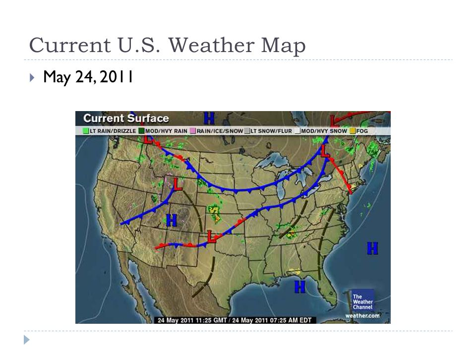 Us Weather Surface Map Globalinterco - Map that shows weather conditions for all of the us