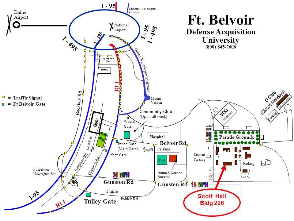 AREA MAP Fort Belvoir, VA P.O I-95 Rt. 1 Rt. 1 NORTH Rt ...