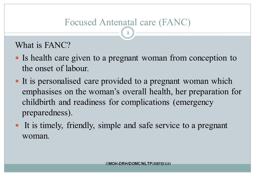 ANTENATAL CARE DEFINITION EPUB