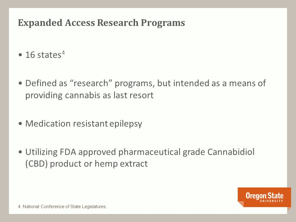 Expanded Access Research Programs