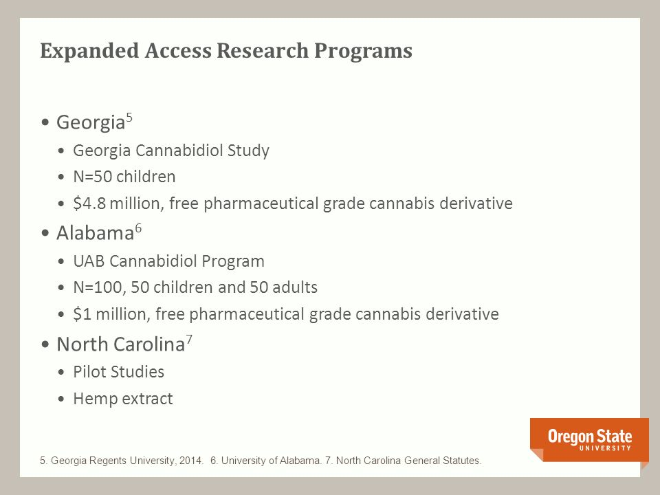 State-Level Medical Cannabis Research Programs