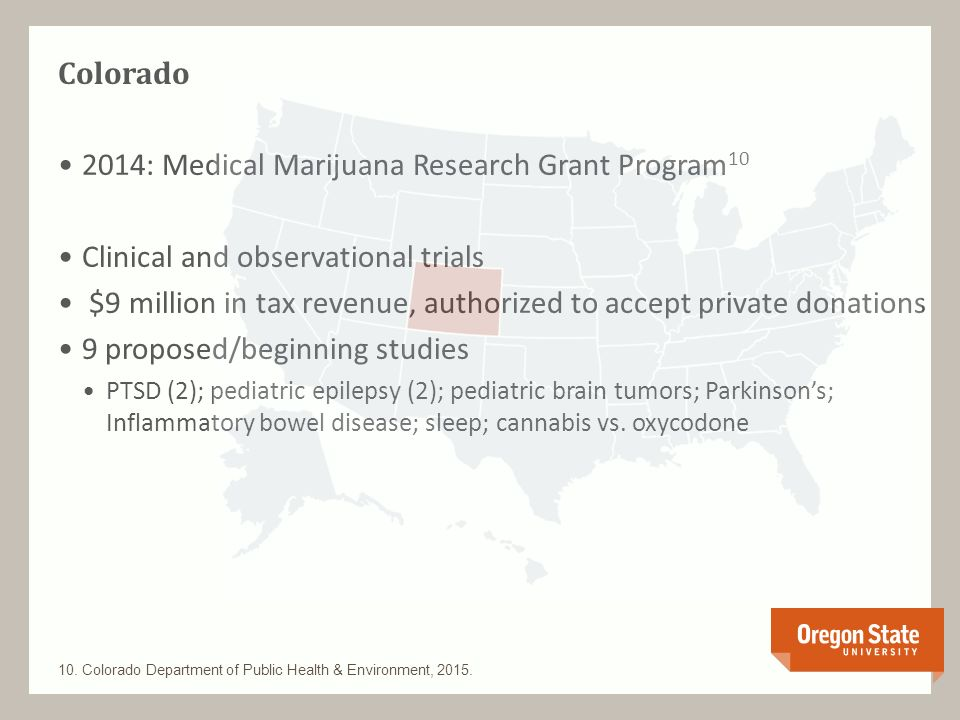 2015: Medical Cannabis Program11 Observational