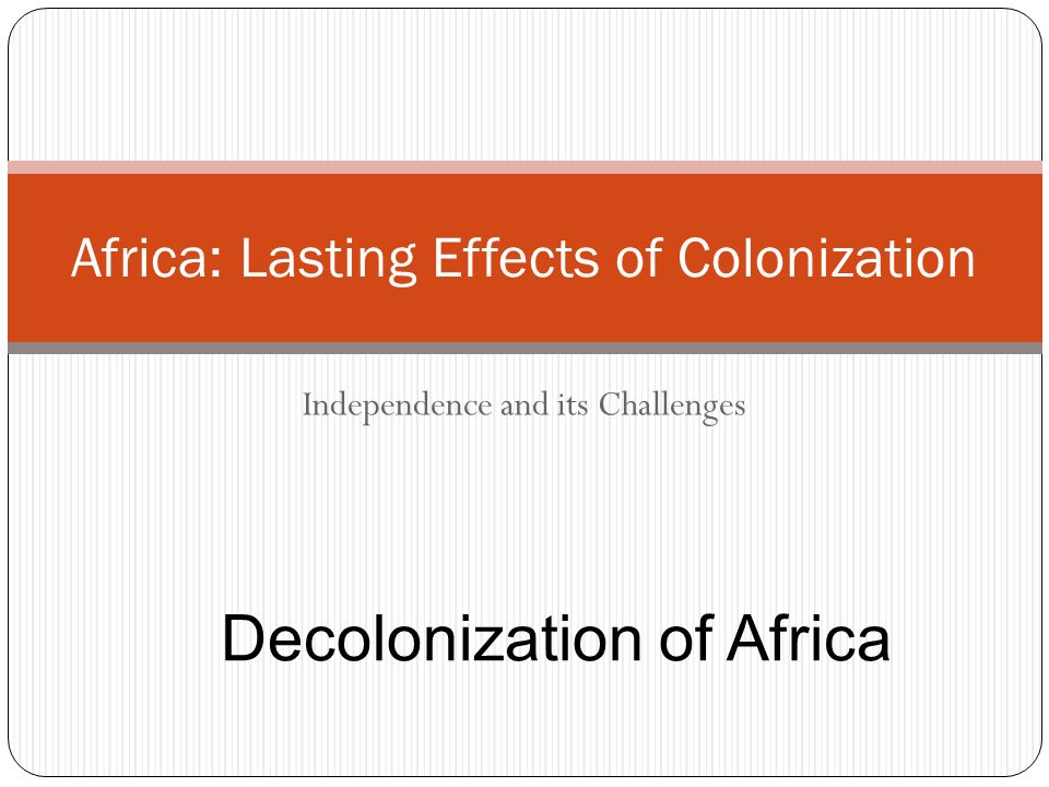 effect of colonisation