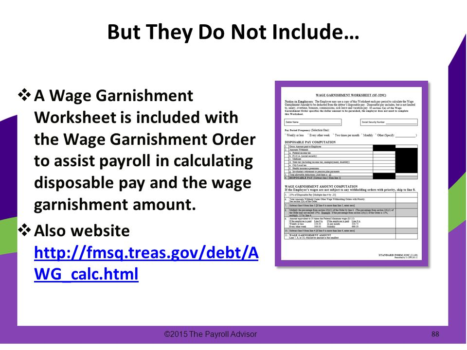 22nd Annual Illinois Statewide APA Conference 08132015 and 0814 – Wage Garnishment Worksheet