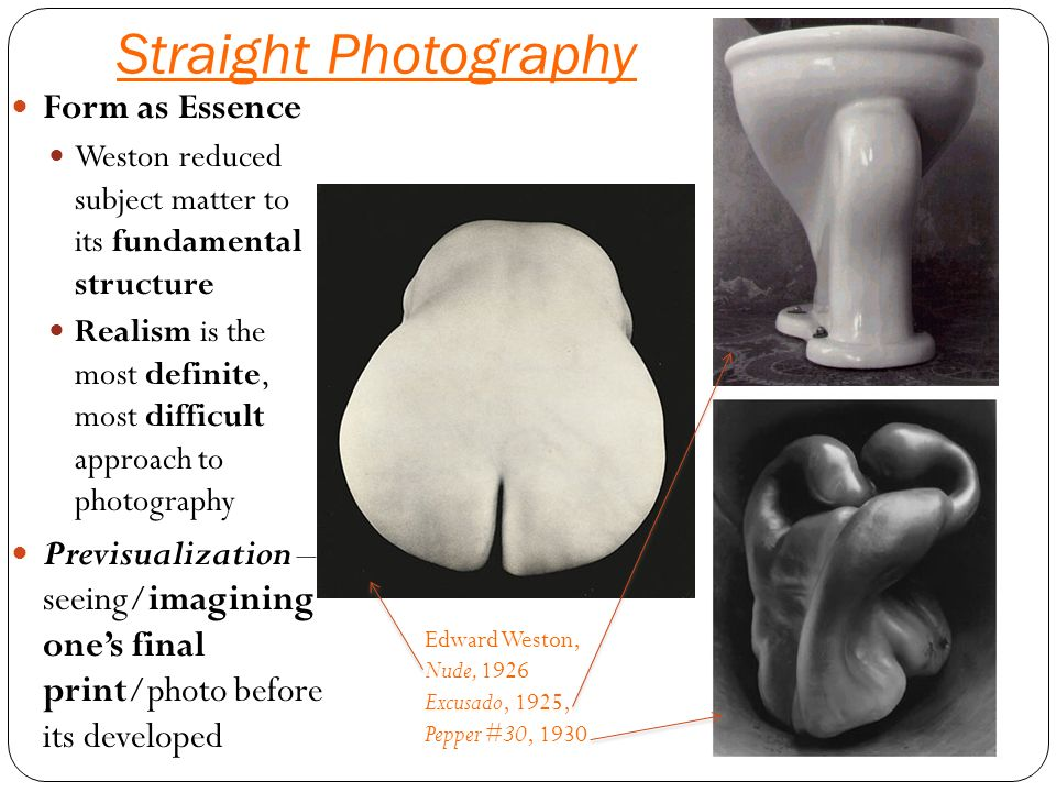 edward weston seeing photographically essay Edward weston, camera craft, vol 37, no 7, pp 313-20  but in a photograph  this way of seeing is legitimate, logical  seeing photographically edward.