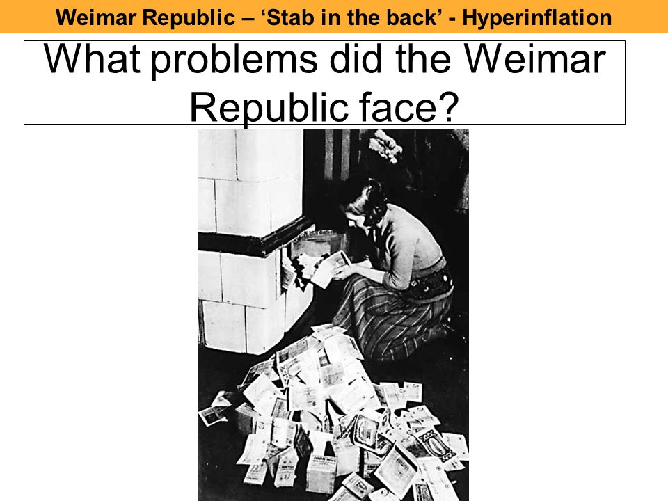 what political and economic problems did the weimar republic face
