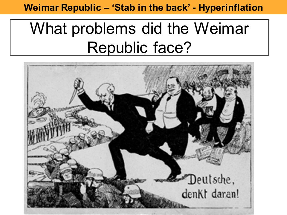 an analysis of the issue of hyperinflation in germany after world war one This simulation is a great way of introducing or revising the issues surrounding weimar germany  after students have  war memorials world war one.