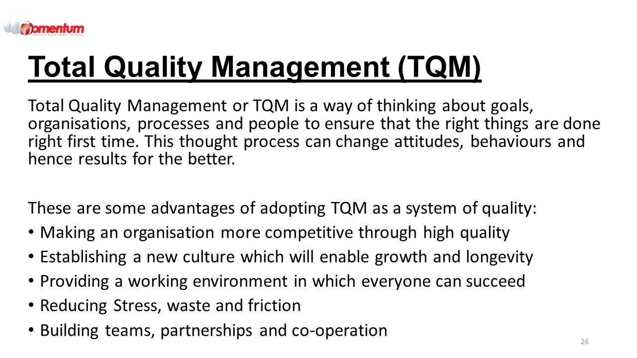 tqm executive summary Total quality management executive summary this study is truly based on unrevealing of the quality management system and approaches being applied in international.