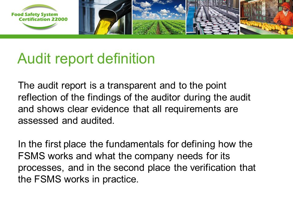 Webinar Fssc Audit Report 7Th September Ppt Download