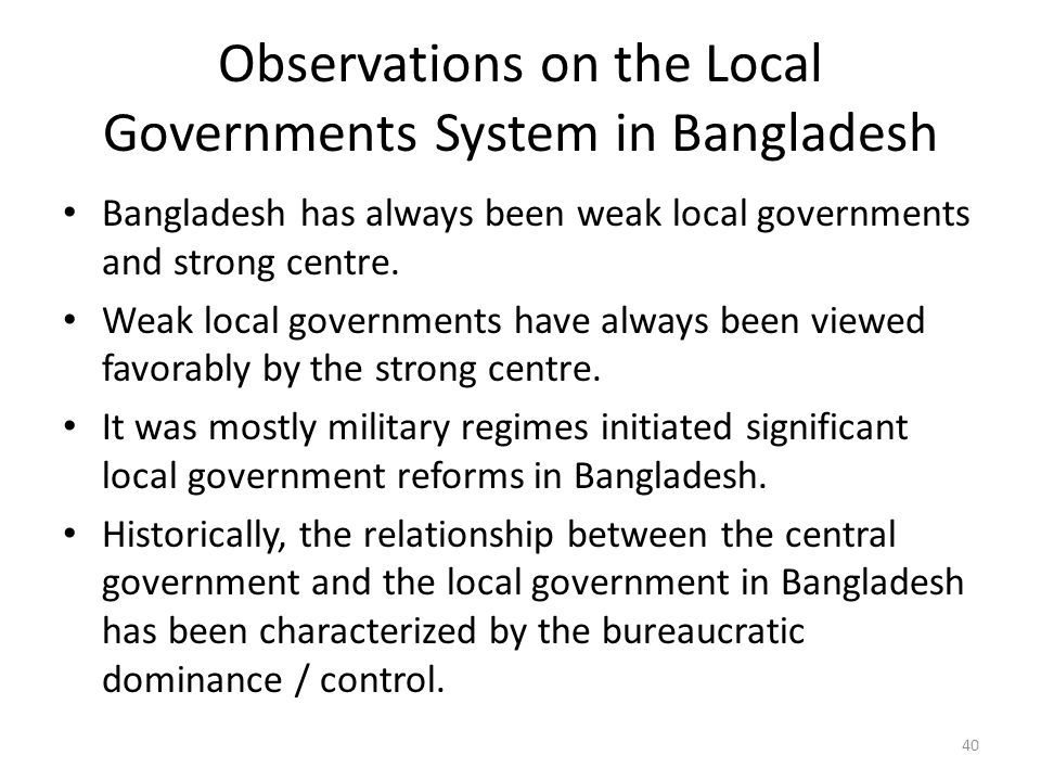 local government in bangladesh Full-text paper (pdf): local government in bangladesh: constitutional provisions and reality.