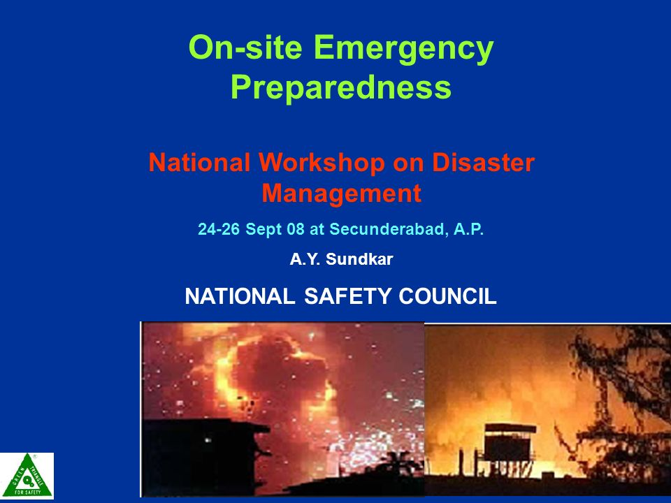 Onsite emergency plan ppt
