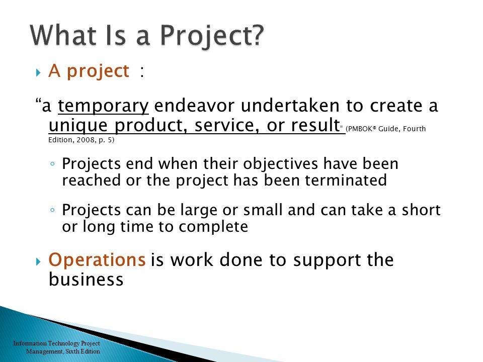 Chapter 1: Introduction to Project Management
