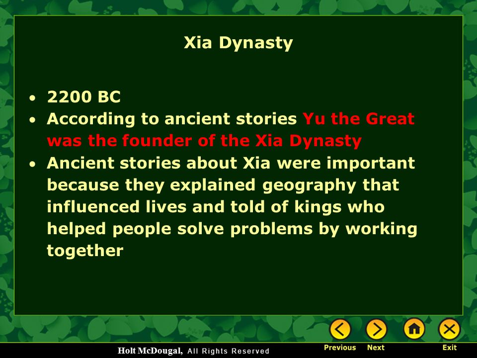 Ancient china chapter 6 pages ppt download 20 xia dynasty sciox Image collections