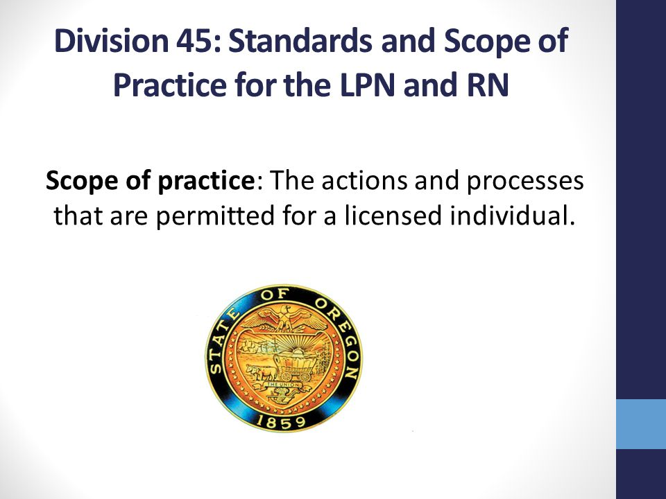 lpn scope of practice 3 preamble the standards of practice for licensed practical nurses (lpns)1 in canada provide a national framework for lpn practice the standards of practice are.