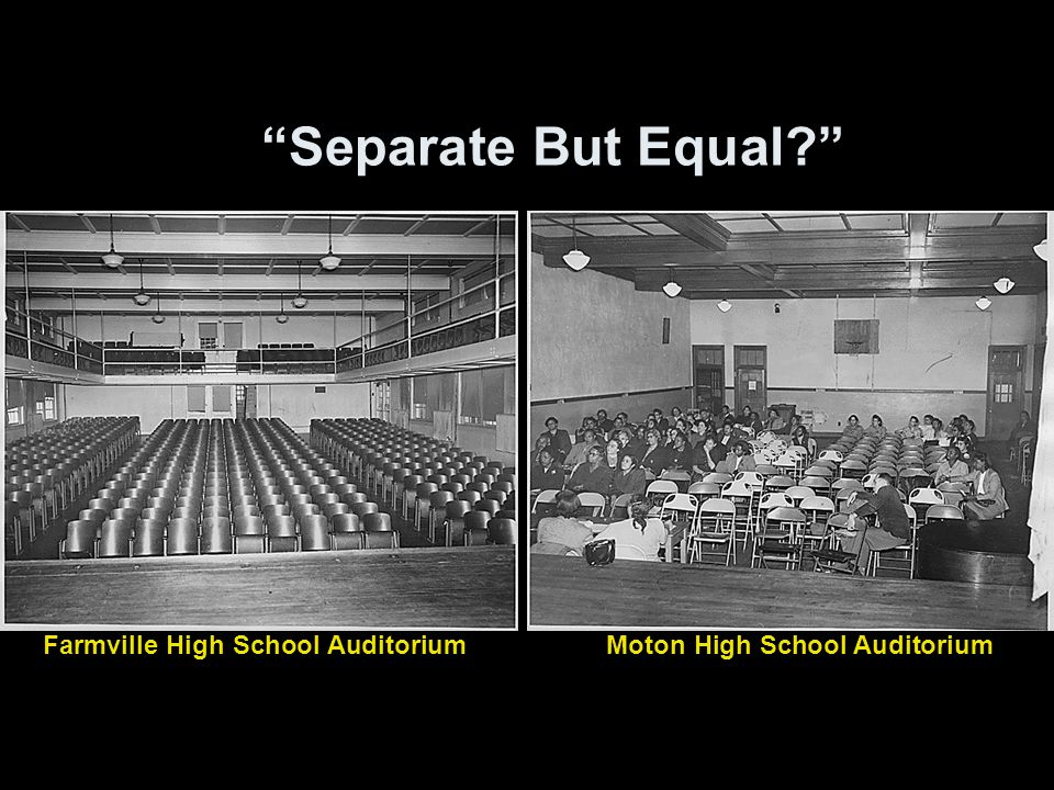 The segregation for separate but equal essay