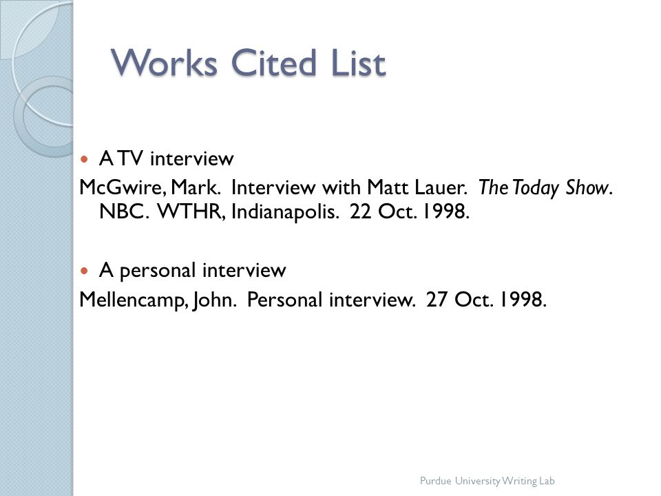 mla format interview citation Learn how to cite an interview in mla format for your works cited so sit back, relax, and throw all of your formatting woes out the window.