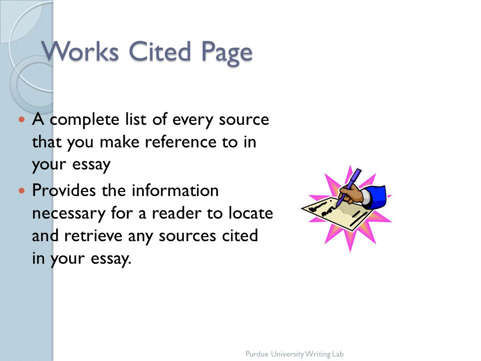 how to make work cited page on internet sources