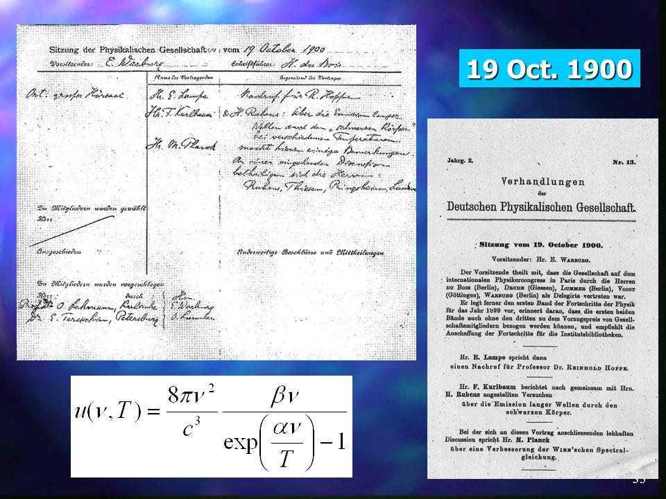 19 Oct. 1900 19.10.1900. Posiedzenie Towarzystwa Fizycznego 19.10.1900: - ogłoszenia komercyjne