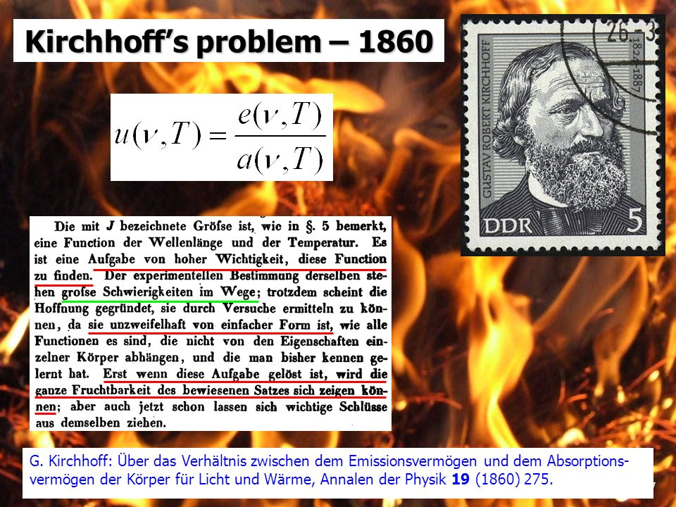 Kirchhoff's problem – 1860