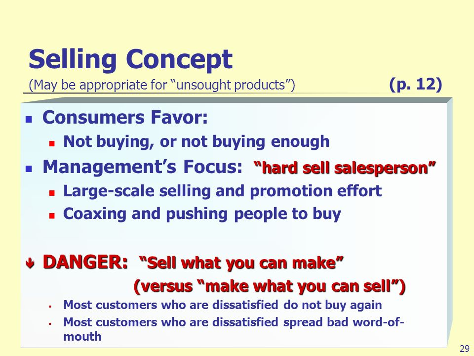 product and selling marketing concept with examples Societal marketing is a concept in marketing that emphasizes social consciousness as part of the overall marketing plan societal marketing is when a company markets a product not only with .