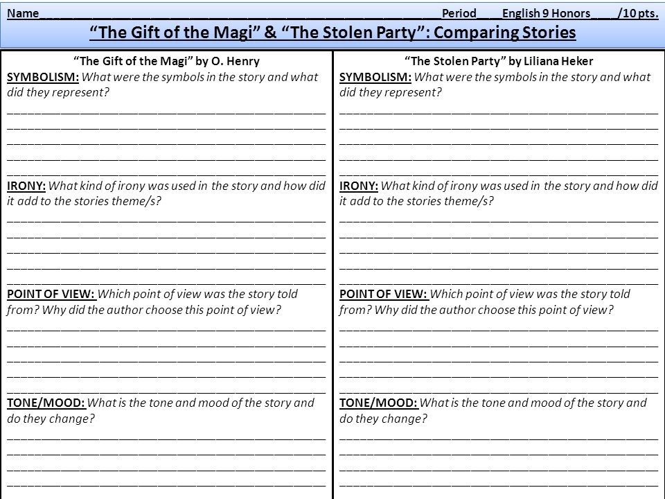theme irony and tone in o henrys short story the gift of the magi Using short stories to teach vocabulary and literary terms includes vocabulary activities for two commonly taught short stories the gift of the magi and the interlopers, which can be adapted to any short story to help identify and understand irony and conflict and to use fiction for increasing student vocabulary.