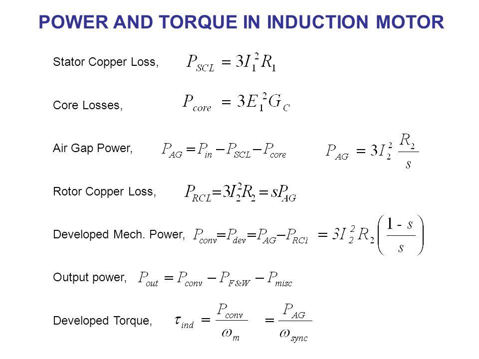 Electric Motor Torque Equation