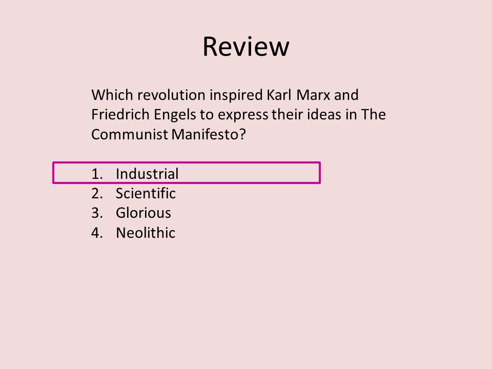 A review of the communist manifesto by karl marx and friedrich engels