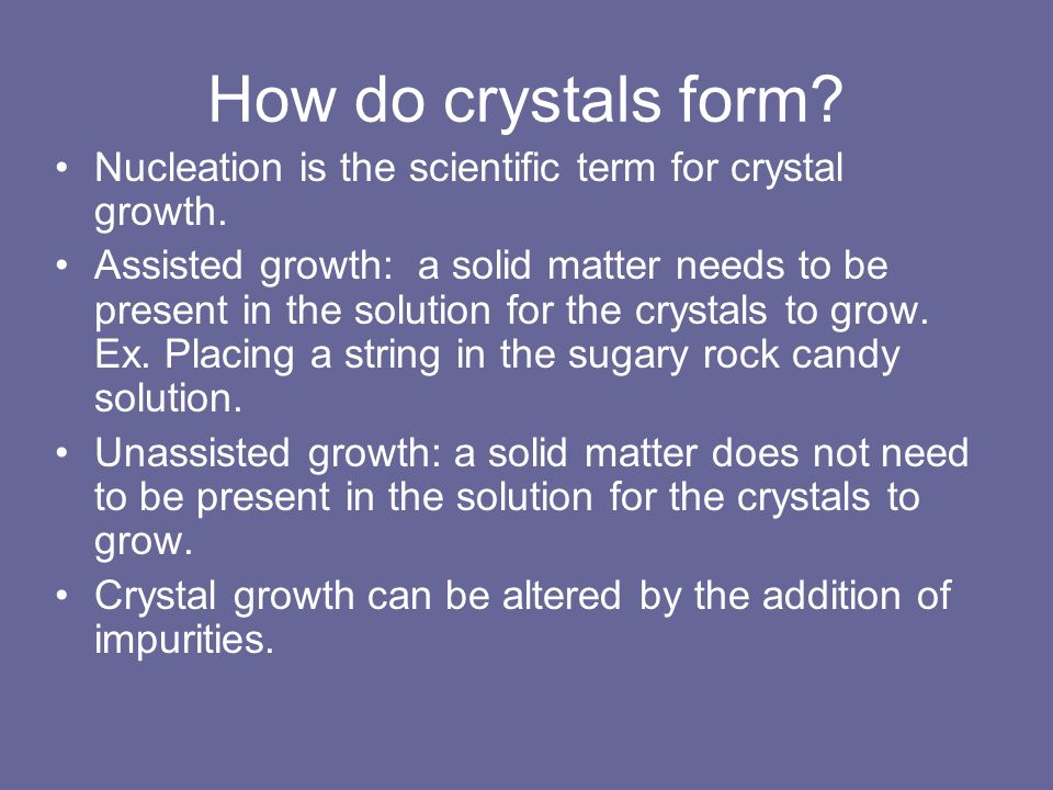 Growing Sugar Crystals SCE 5020, Fri. AM - ppt download