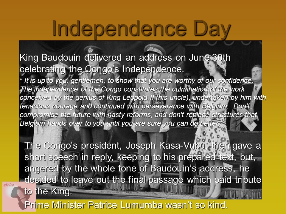 Democratic Republic Of The Congo Ppt Video Online Download - Congo independence day