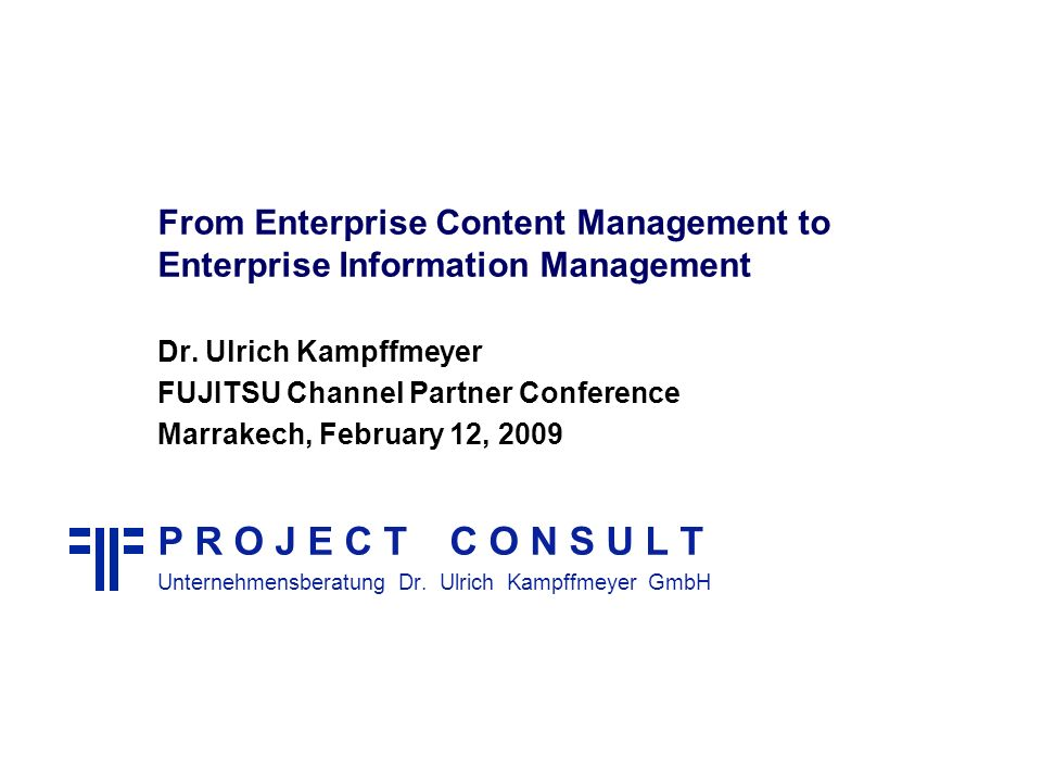 From Enterprise Content Management to Enterprise Information Management