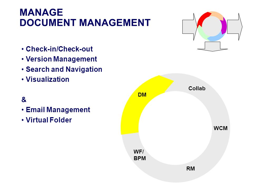 MANAGE DOCUMENT MANAGEMENT STORE Check-in/Check-out Version Management