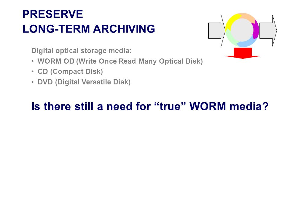 Is there still a need for true WORM media