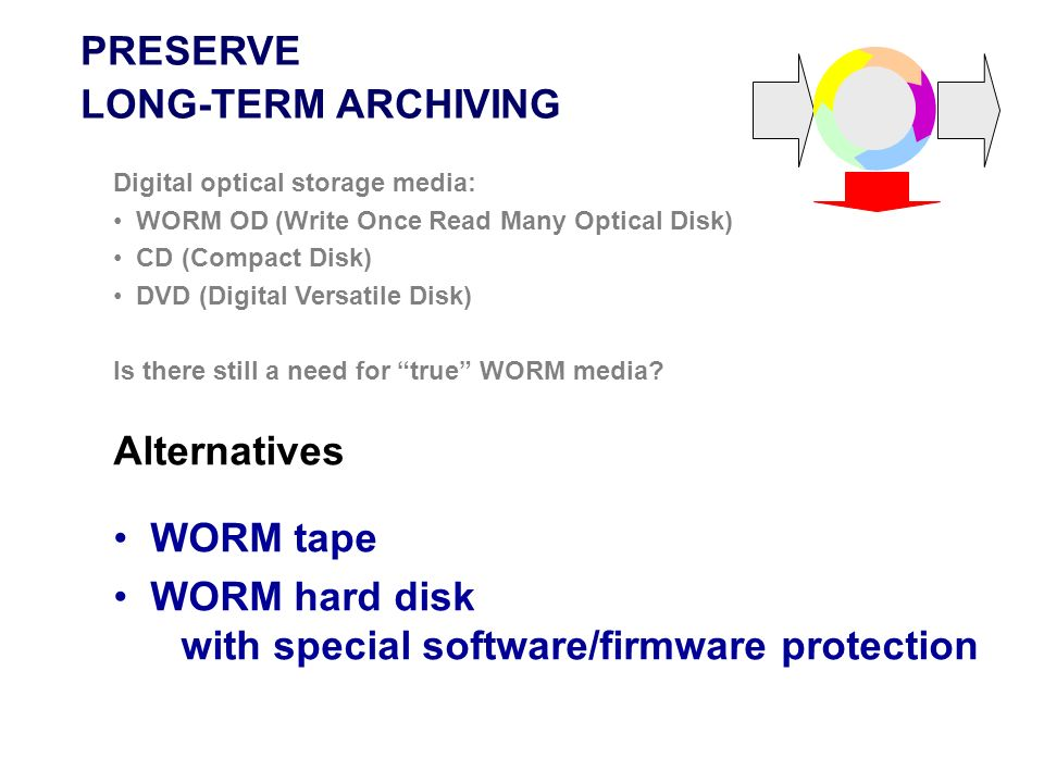 WORM hard disk with special software/firmware protection
