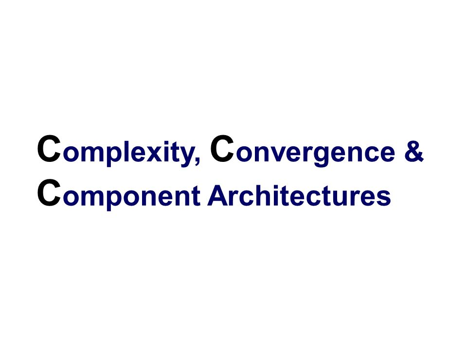 Complexity, Convergence &