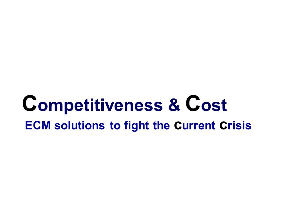 Competitiveness & Cost