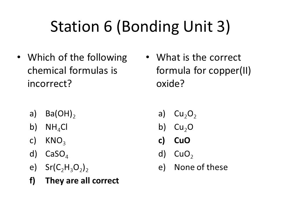 Final Exam Review Stations Units ppt download – Bonding and Chemical Formulas Worksheet Answers