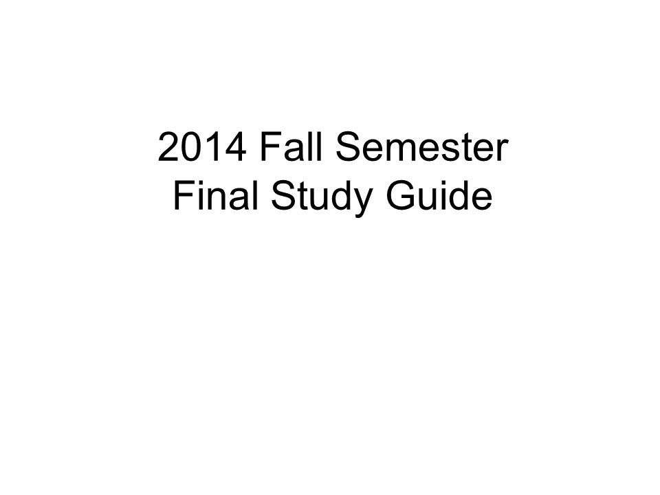 semester 1 study guide World geography semester 1 final study guide below are all of the things you need to know for the first semester final the answers to this study guide will not be.