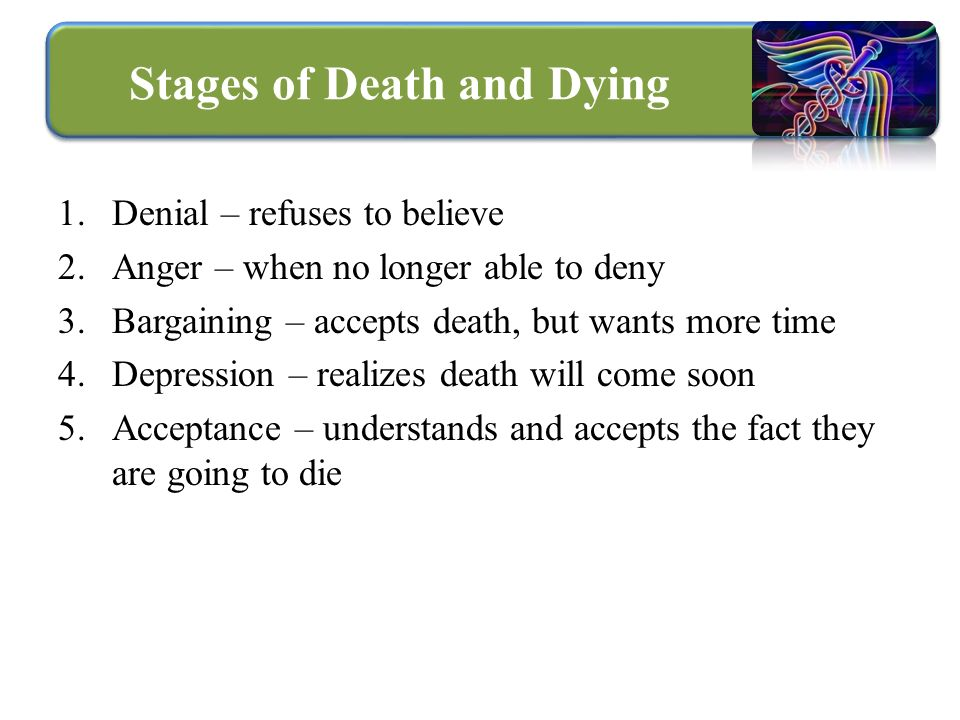 5 stages of death essay Clinical death is defined as cessation or failure of all vital bodily 10 fascinating stages of death sarah thompson october 26, 2012 share 602.