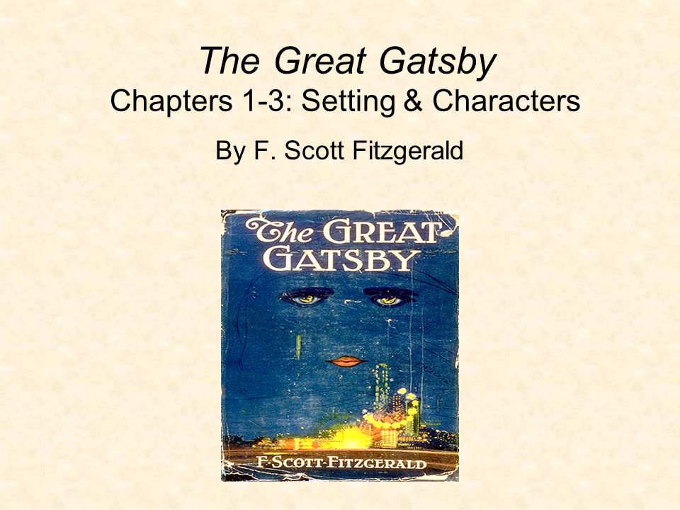 setting of the great gatsby book